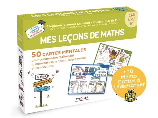 Mes leçons de maths en cartes mentales-cycle 3