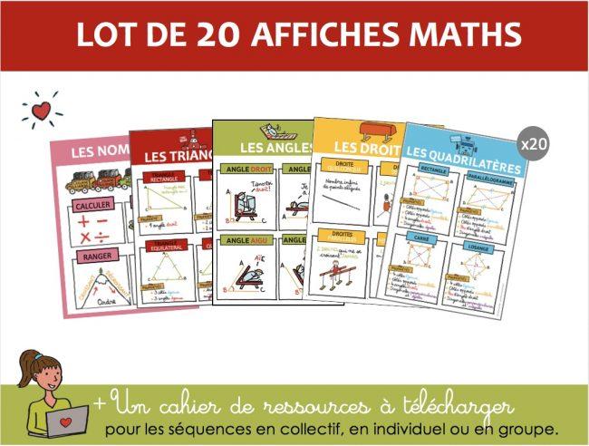 set de 20 affichages maths