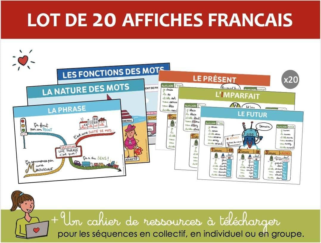 Lot de 20 affiches français