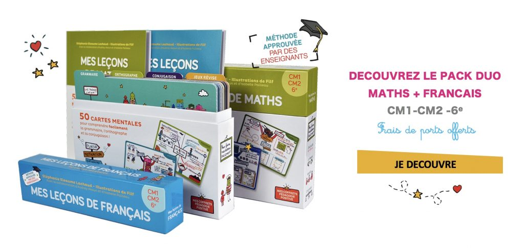 PACK DUO-Cartes mentales maths et francais