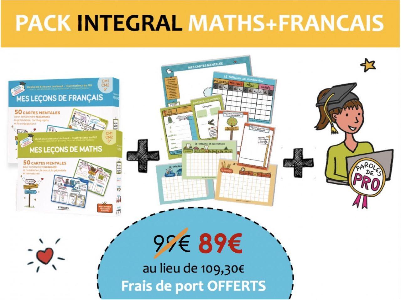 Pack INTEGRAL Cartes mentales Maths et Francais cycle 3-Soldes