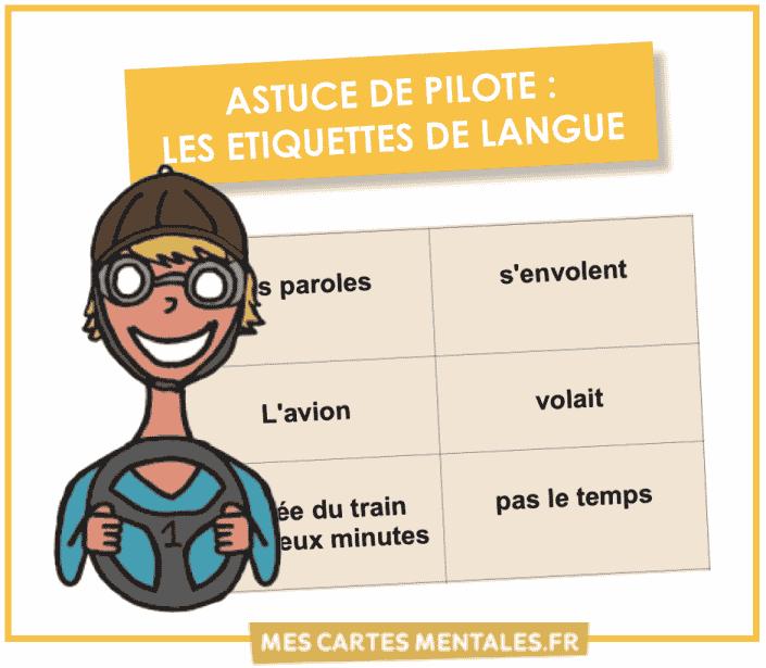 Astuce Etiquettes de langue