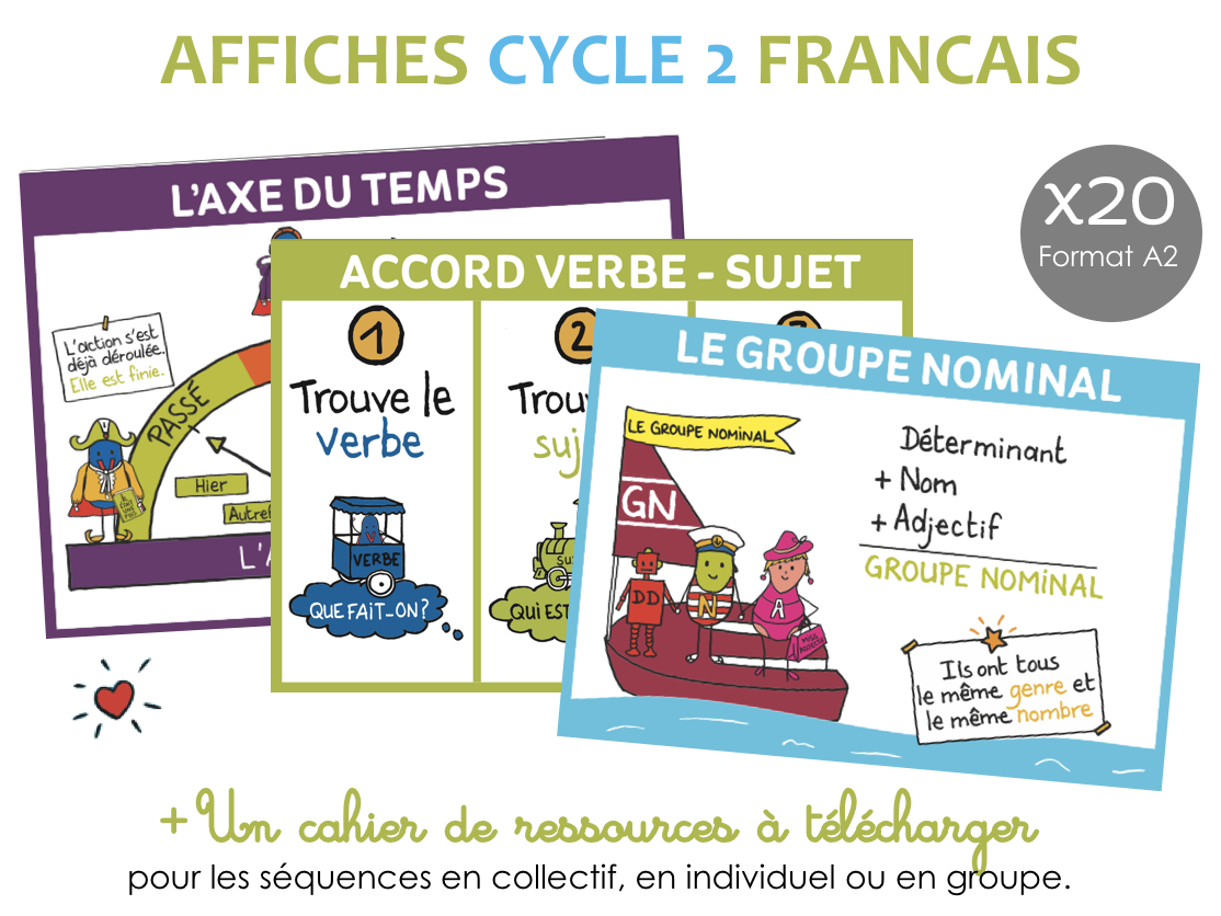Set AFFICHE Francais cycle 2