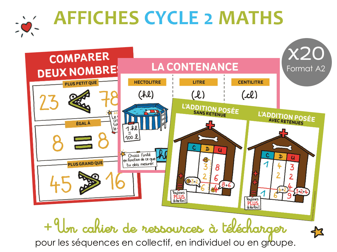 Set AFFICHE Math cycle 2