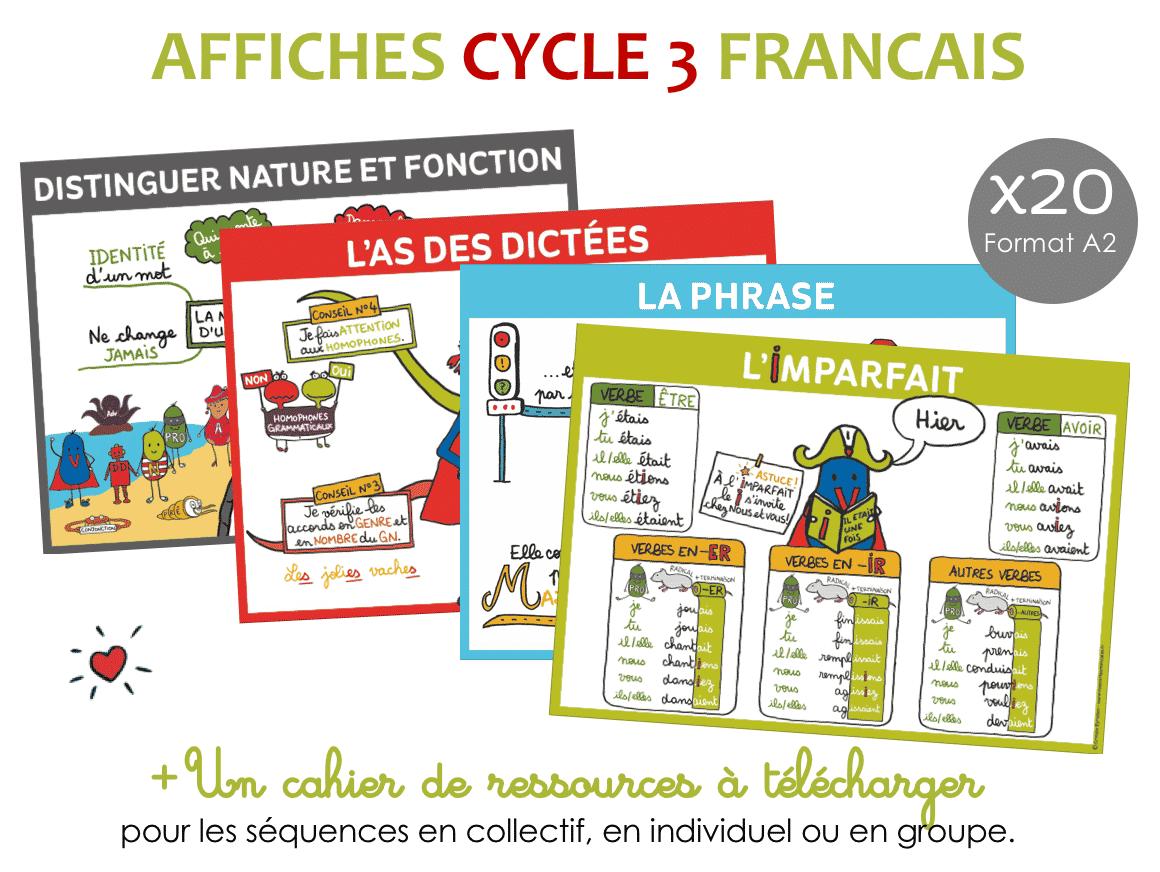 Affiche francais cycle 3