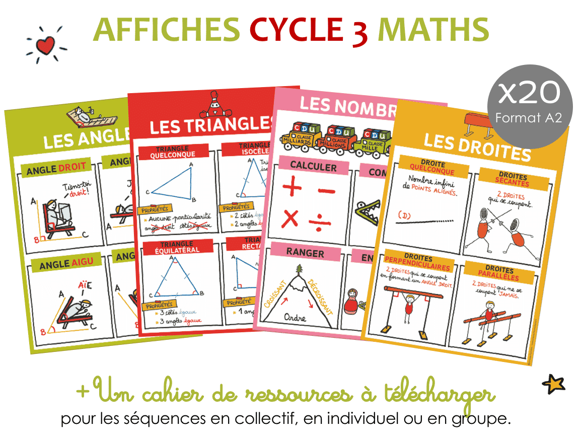 Affiche maths cycle 3