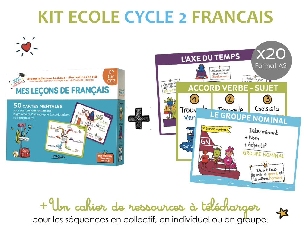 Kit ecole francais cycle 2