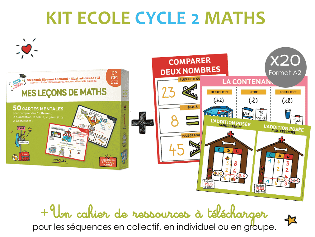 Kit ecole maths cycle 2