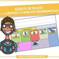 Astuce de pilote-grille analyse grammaticale