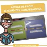 Astuce de pilote-rond des conjugaisons