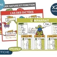 Affiche Francais- Cycle 3, CM1, CM2, 6e
