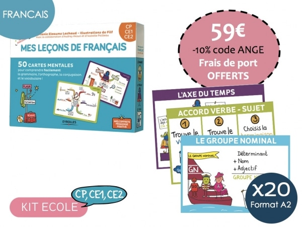 Kit Ecole Francais-Cycle 2 CP, CE1, CE2