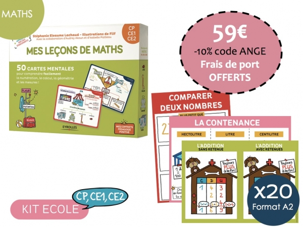 Kit Ecole Maths-Cycle 2 CP, CE1, CE2