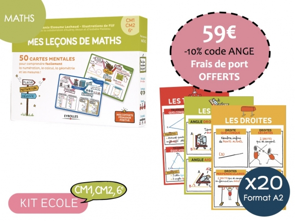 Kit Ecole Maths-Cycle 3 CM1,CM2, 6e