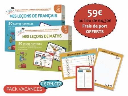 Pack Vacances cycle 2 - CP, CE1, CE2