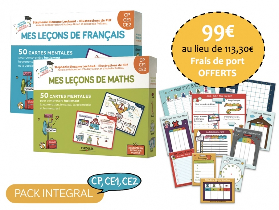Pack intégral cycle 2 - CP, CE1, CE2