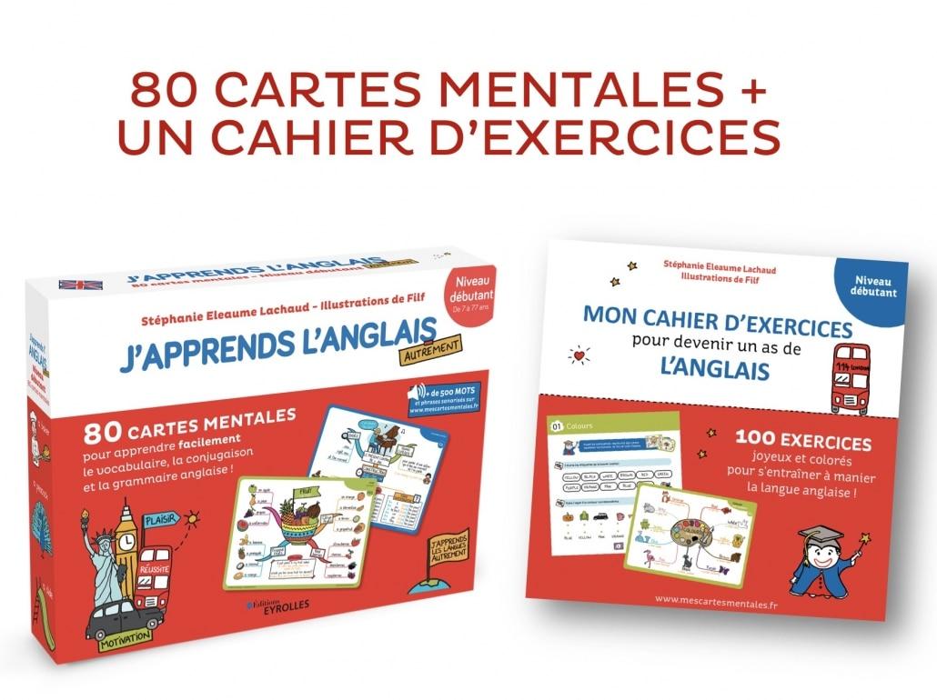 Coffret De Cartes Mentales J Apprends L Anglais Son Cahier D Exercices