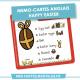 Mémo Carte Anglais Happy Easter