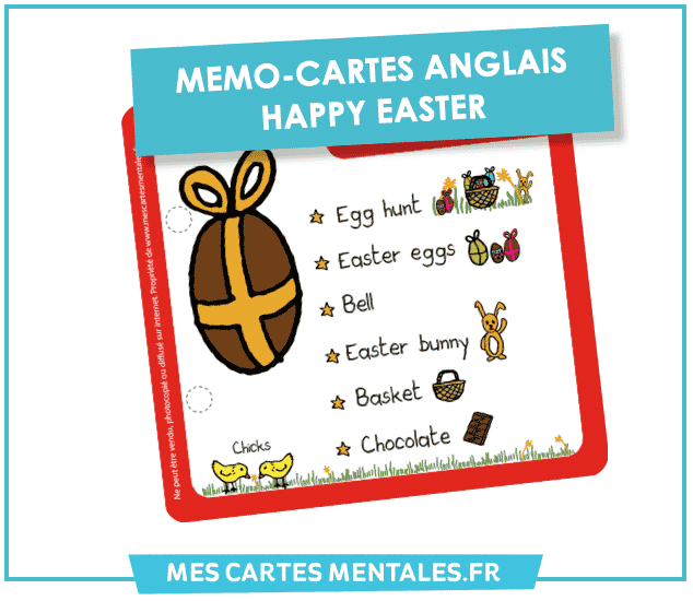 Mémo Carte Anglais Happy Easter