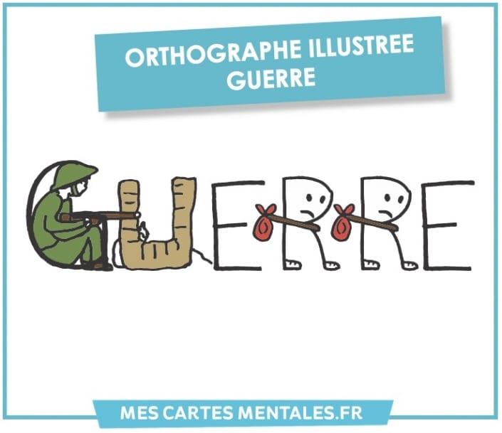 Orthographe illustrée Guerre
