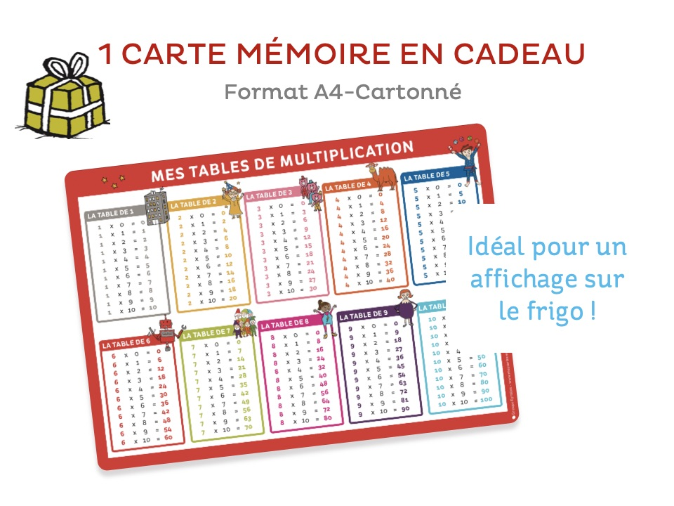 J'apprends les multiplications-Carte mémoire