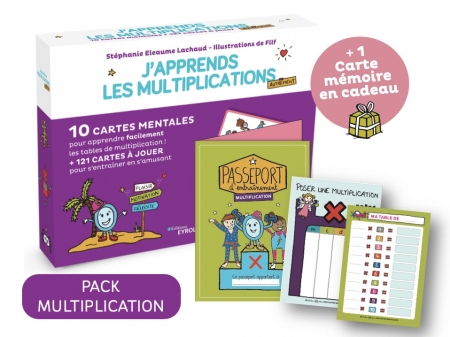 J'apprends les multiplications-Pack