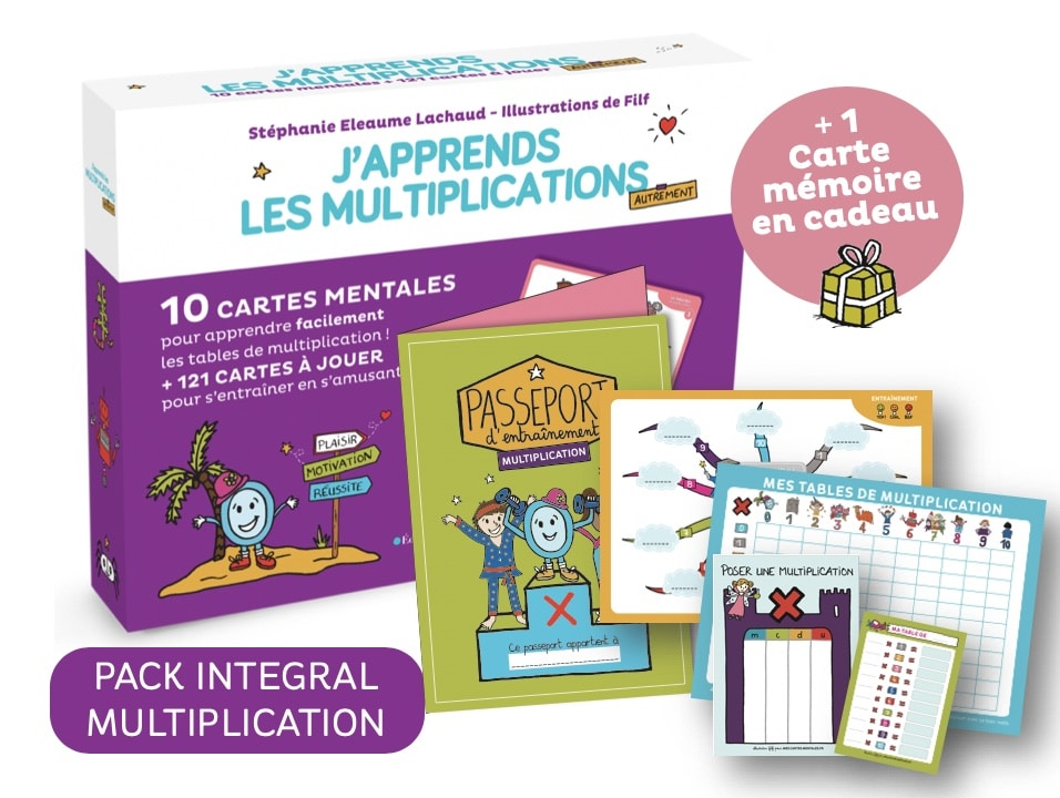 J'apprends les multiplications-Pack Intégral