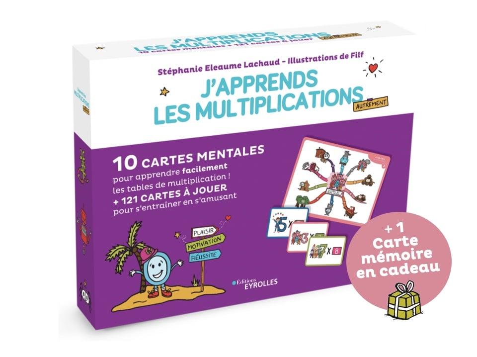 J'apprends les multiplications avec les cartes mentales