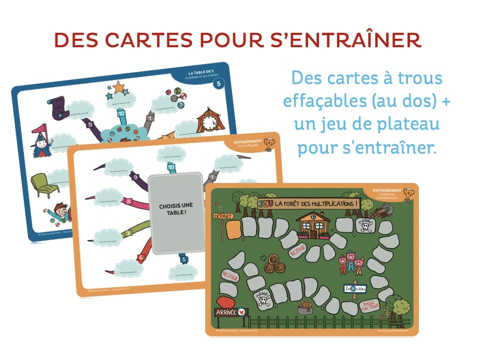 J'apprends les multiplications-cartes effacables