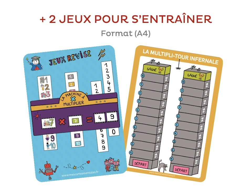 J'apprends les multiplications-lot de 2 jeux