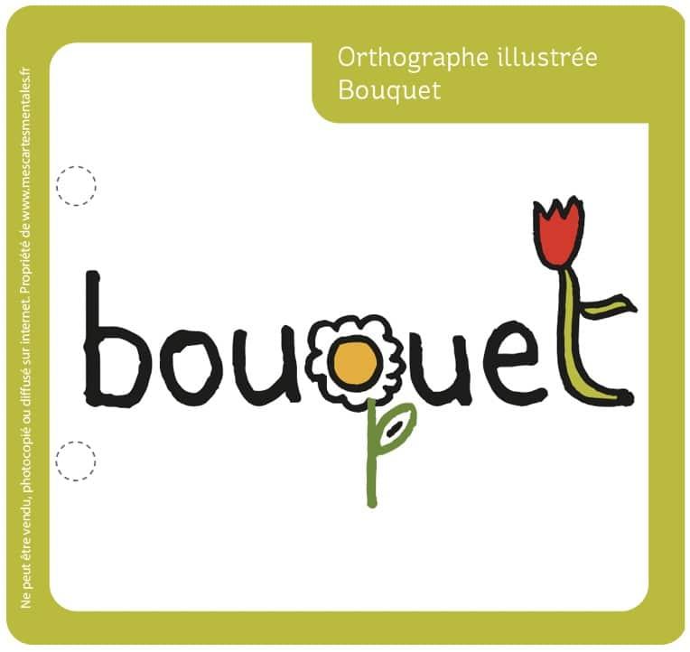 Orthographe illustrée-bouquet à télécharger