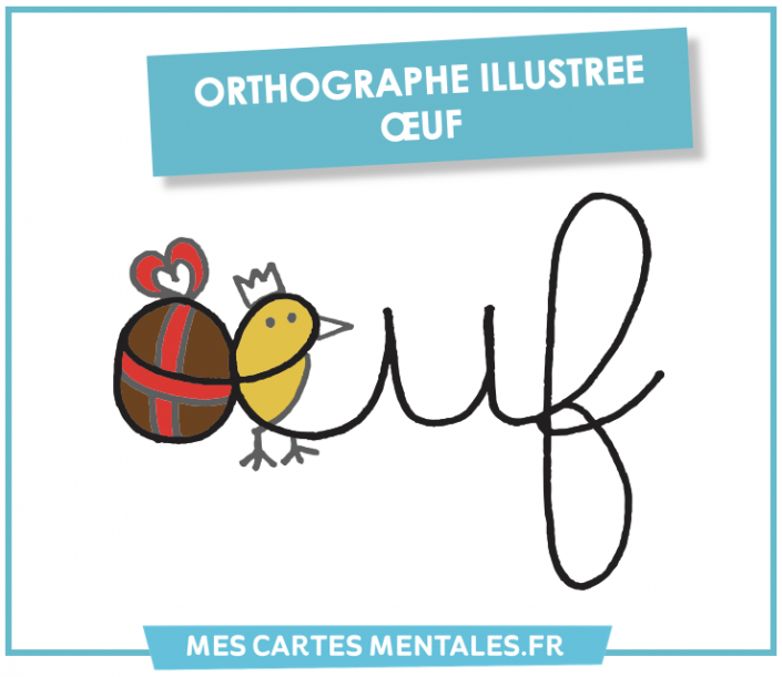 Orthographe illustree oeuf