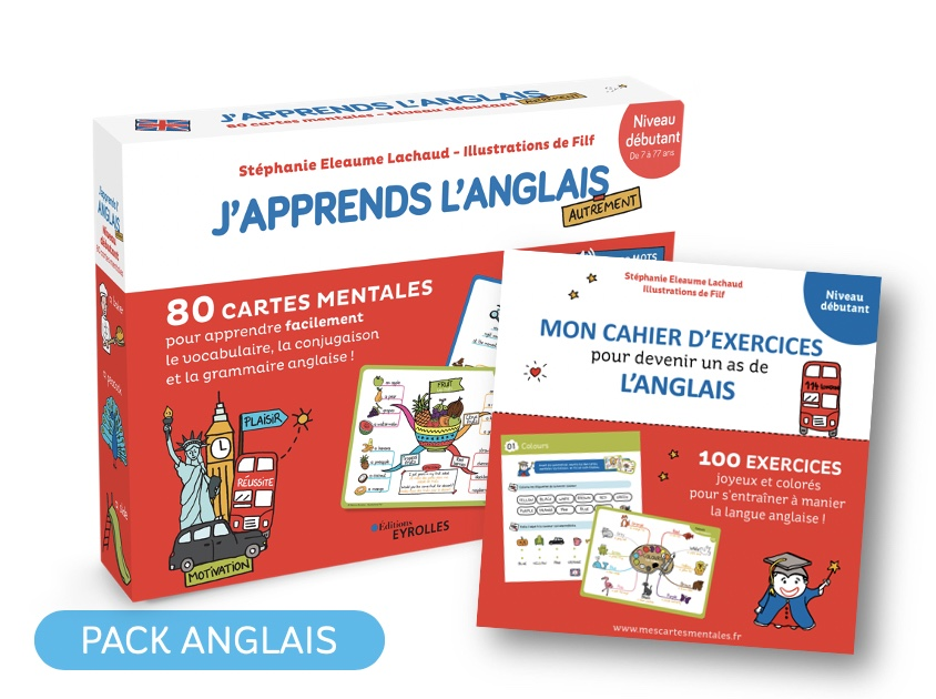 Coffret De Cartes Mentales J Apprends L Anglais Son Cahier D Exercices